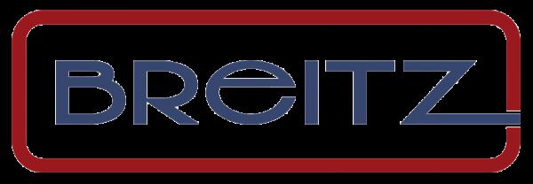 BREITZ Logo in Rot und Blau