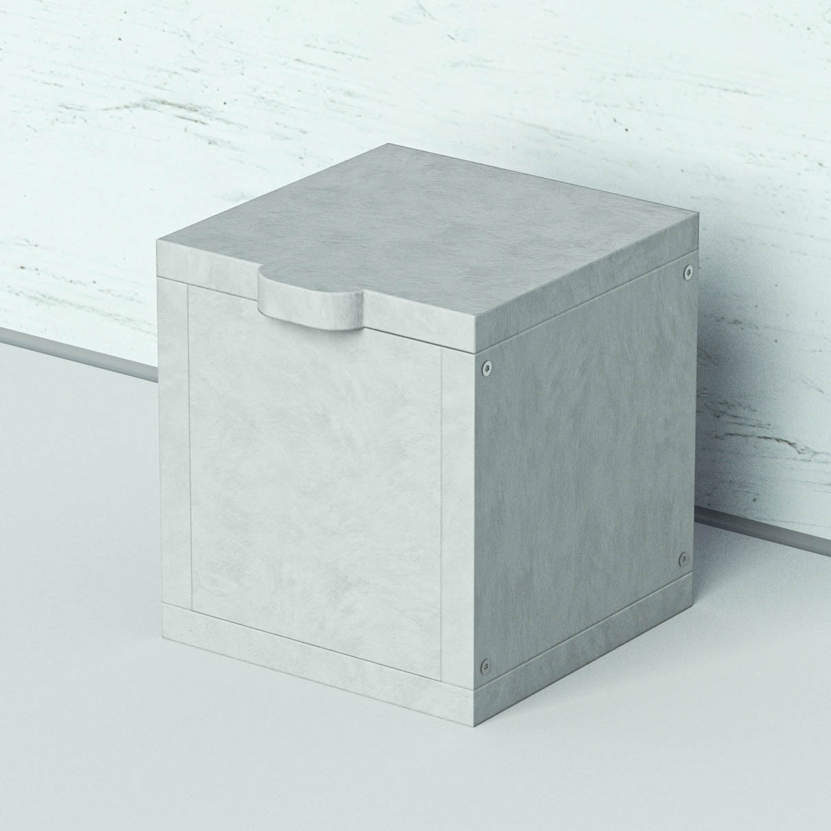 Akkubox mini vor einer weißen Wand